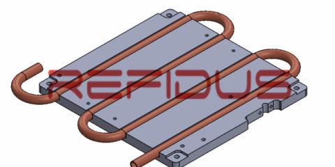 OEM LED electronic using liquid cooling plate heatsink